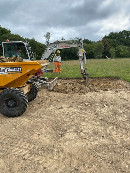 Ground Works At Yew Tree Lakes Have Begun