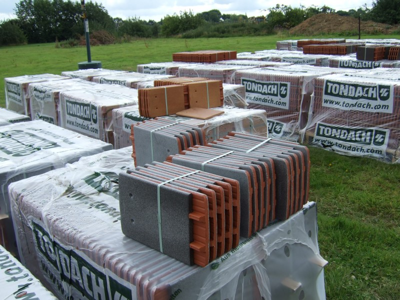 Tiles arrive at Bumpers Oast